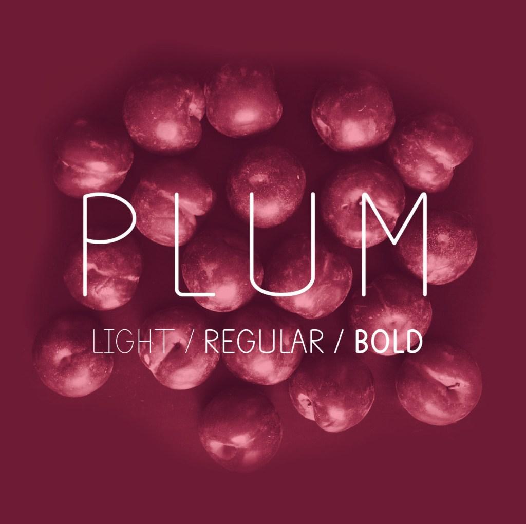 Plum – Free Font
