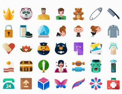 100 Free Flat Icons Set