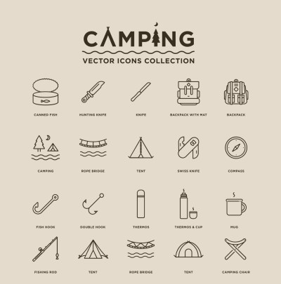 Camping – Free Vector Icons