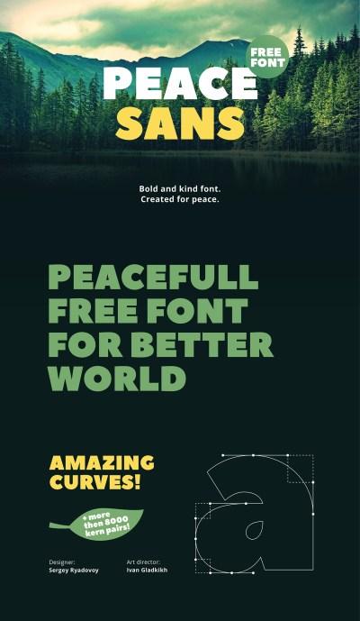 Peace Sans – Free Font