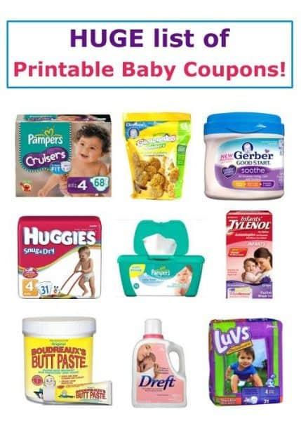 83 Printable Baby Coupons this month - Pampers, Gerber, Huggies, Similac, Earth's Best, so much more!