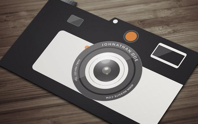 Free Camera Business Card Template Freebiesjedi