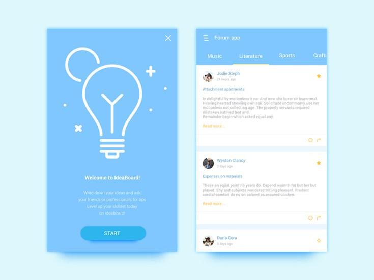 Free Forum App UI Design - Free Download   Freebiesjedi