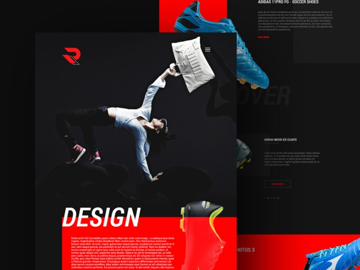 reekters colorful psd web template