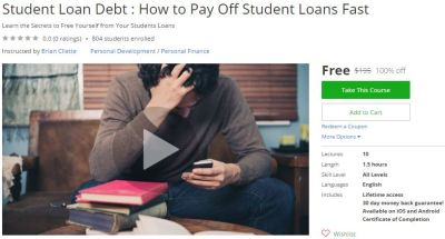 Udemy Coupon – Student Loan Debt : How to Pay Off Student Loans Fast – Free Coupon Discount