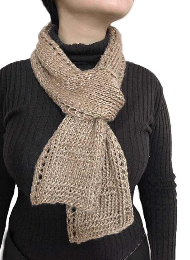 Free Unisex Easy Beginner Lace Border Scarf Knitting Pattern