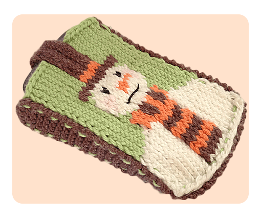 Knitting Pattern Png : Video tutorials how to knit snowman mobile phone covers