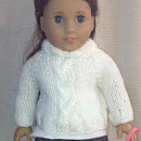 Cabled Doll Sweater