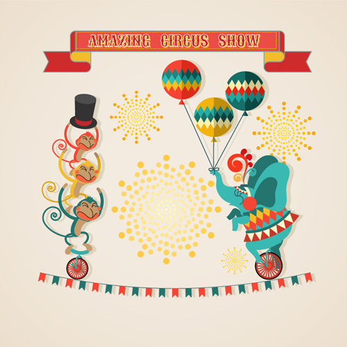 Amazing circus show vector illustration 02   Vector Business free