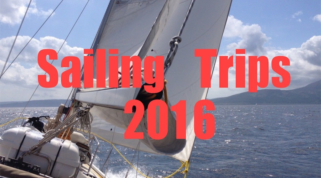 Sailing trips in 2016