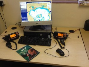 VHF training station at Freedom Sailing Scotland