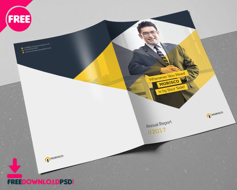 Annual Report Brochure Template   FreedownloadPSD com free  free psd  free download psd  print  download psd  psd download