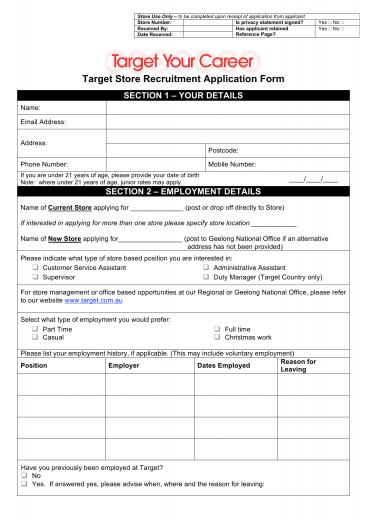 Download Target Job Application Form – Careers | PDF | FreeDownloads.net