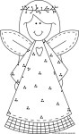 Print out Christmas smile face angel coloring pages