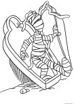 halloween mummy coloring page online