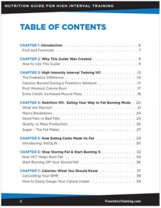 Table of Contents - Freeletics Training Nutrition Guide