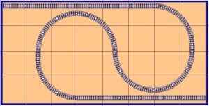 free model railroad plans point-to-point curving o gauge o-27 4x8 lionel mth atlas