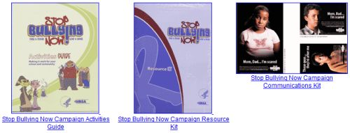 HRSA Free Stop Bullying Now DVD, Guide, and Kit - US