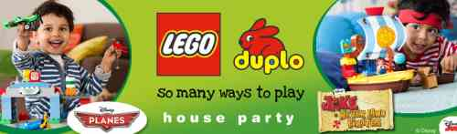 House Party Host a Free Lego Duplo Party Featuring Disney Planes and Jake and the Never Land Pirates - US