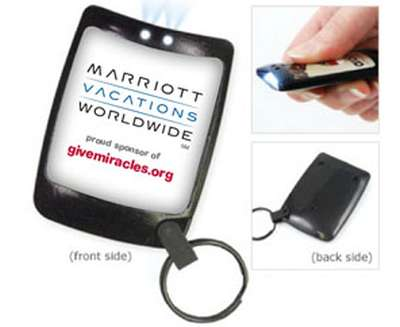 GiveMiracles.org Free Light-Up Keychain Flashlight
