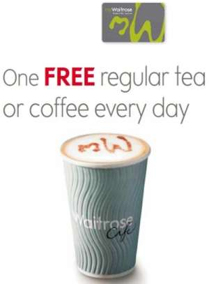 Waitrose Free Regular Tea or Coffee Every Day for Being a Member - UK