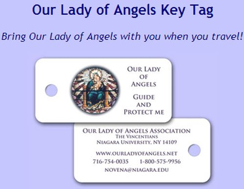 Our Lady of Angels Association Free Our Lady of Angels Key Tag - US