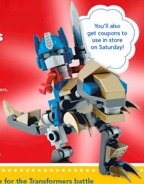 Toys R Us Free Transformers Build and Demo on Saturday, June 28, 2014 from 12 - 2 p.m. in Stores