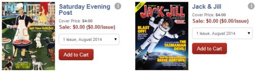 DiscountMags.com Free Issue of Saturday Evening Post and Jack & Jill Magazine