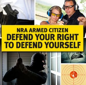 Chris Cox's NRA Armed Citizen Free NRA Bumper Sticker - US