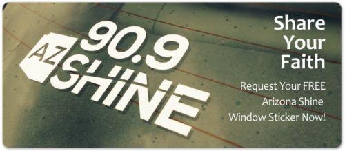 Shine 90.9 Radio Station Free Arizona Shine Window Cling - US