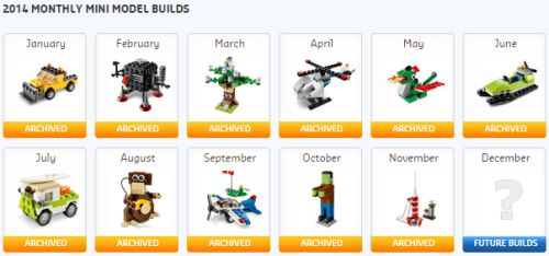 LEGO Shop Free December Mini-Build on December 2, 2014 at 2 p.m.