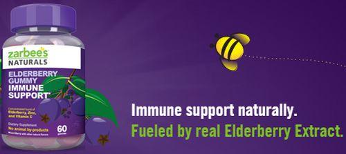 Zarbee's Naturals Elderberry Gummy Immune Support Free Sample via Facebook - US