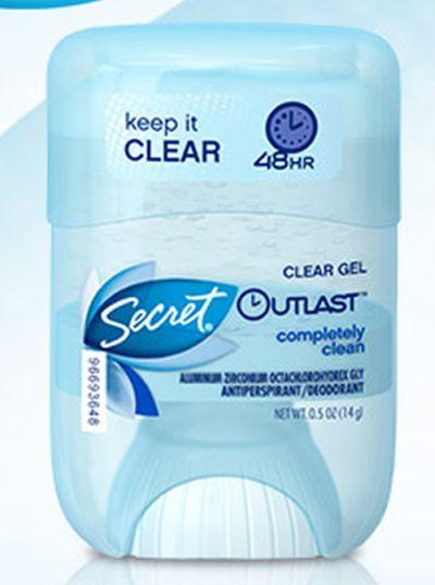 Secret Clear Gel Outlast Deodorant Free Sample - US