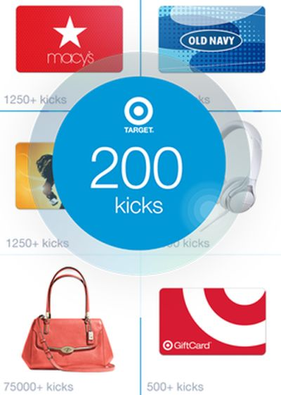 Shopkick Free 200 Kicks for Target (= $2 Target Gift Card) with Sign up from Mobile Device - US