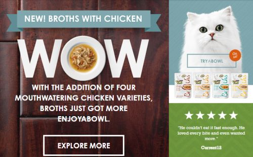 Purina Fancy Feast Free Broths with Chicken Cat Food Sample - US