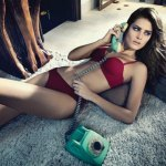 Isabeli Fontana starred in advertising Uni Lingerie Underwear