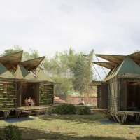 Low Cost Bamboo Housing by H&P Architects