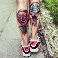 Tattoos influenced by Watercolor and Graphic Novel Art by Lukasz Bam Kaczmarek