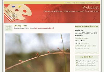 Webpalet, oude stijl
