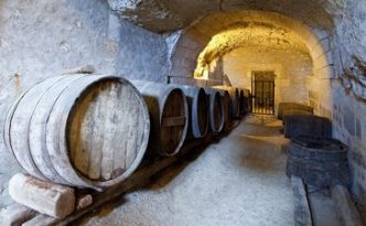 ancient wine cellar in the tuff