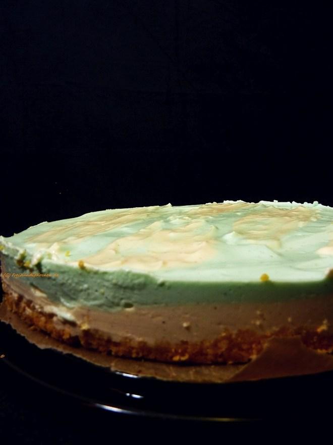 Vanilla Sky Cheesecake Brownies Inside