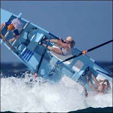surf boat over