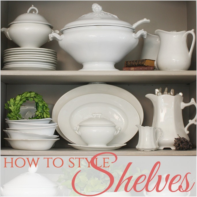 French Country   How to Style Shelves
