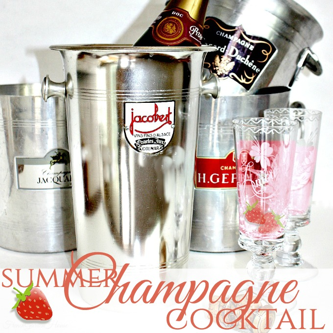 Art of Gracious Entertaining | Summer Champagne Cocktail