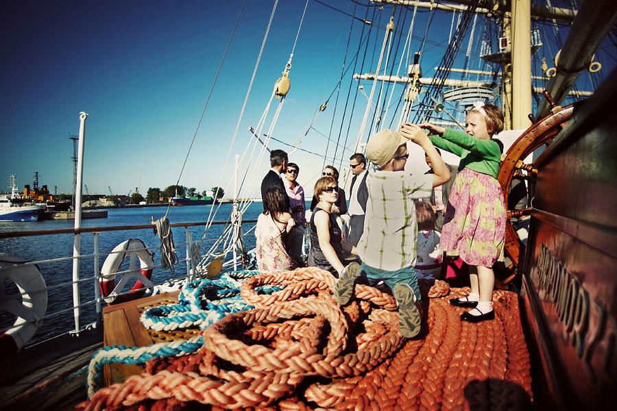 Wozaczinski Dagmara+Maciek 19 Married on a Boat in a Beautiful Sailor Outfit