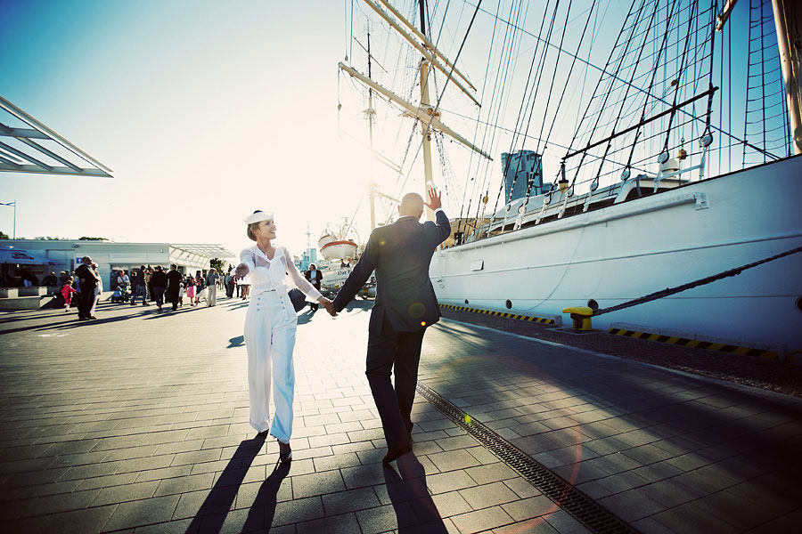 Wozaczinski Dagmara+Maciek 25 Married on a Boat in a Beautiful Sailor Outfit