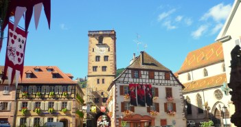Town-Hall square and the Butchers' Tower, Ribeauvillé © French Moments