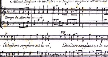 Partition of La Marseillaise