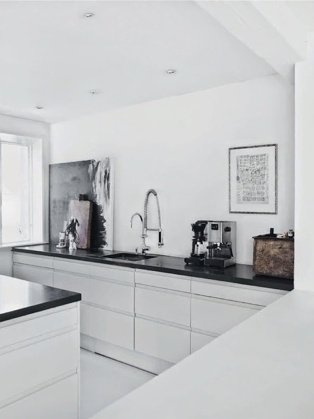 Le design scandinave en noir et blanc frenchy fancy - Cuisine style scandinave ...