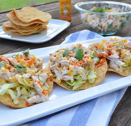 Paleo Twisted Chicken Salad with Tostadas
